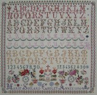 CHART PACK FRENCH SAMPLER MARIE SOULARD 1896