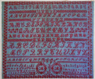 CHART PACK CLASSIC ANTIQUE FRENCH ALPHABET SAMPLER MM 1900