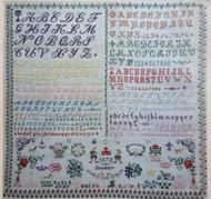 CHART PATTERN BOOKLET FRENCH SAMPLER Louisa Soustrat 1878