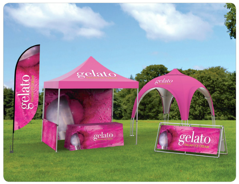 outdoor tents signs trade show booths