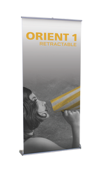 "Orient Retractable Banner Stand 39.25""wide"