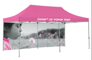 ZOOM 20' TENT CUSTOM PRINTED 20' BACKWALL (GRAPHIC ONLY)
