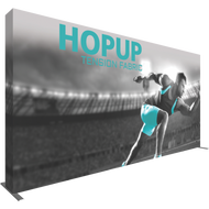 HOPUP 15FT STRAIGHT FULL HEIGHT TENSION FABRIC DISPLAY 6 x 3