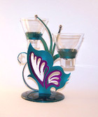 Admiral Butterfly Candle Holder Double