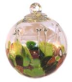 Medusa Spirit Ball Silver Nitrate Greens & Burnt Orange