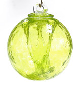 Small Witch Ball Gold Green