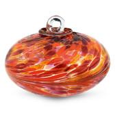 Dark Red, Orange & Gold Orb Kugel (Coral)
