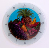 Fruit Basket Glass Clock
