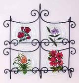 Floral Glass Plates, Set 2