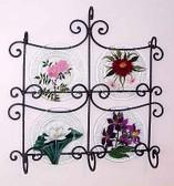 Floral Glass Plates, Set 3
