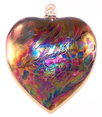 "Abalone Heart, ""Ruby / Wine Red"""