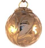 Brass Cap Gold Etched Mini Kugel