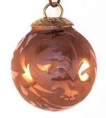 Brass Cap Copper Etched Mini Kugel