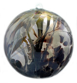 """XL Witch Ball """"Obsidian"""" (Iridized)"""
