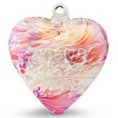 "Large Heart ""Pink"" Iridized"