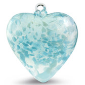 "Large Heart ""Aqua Light"" Iridized"