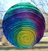 "Multicolor Water Glass Sun Disk  ""Pebble Drop"""