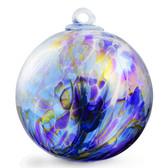 """XL Witch Ball """"Chaos Iris"""" Iridized"""