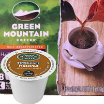 Green Mountain Half-Caff Hazelnut Coffee K-Cup® Pod. Compatible with most single cup brewers including Keurig & Keurig 2.0.