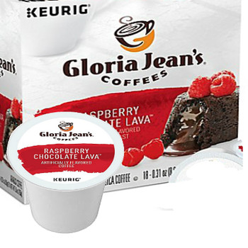 Gloria Jean's Raspberry Chocolate Lava Coffee K-Cup® Pod. Smooth and rich, with the flavors of raspberry and dark chocolate. Compatible with most or all single cup brewers including Keurig® and Keurig® 2.0