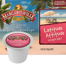 Margaritaville Coffee Lattitude Attitude Coffee Single Cup. Wrap your hands around a mug of Lattitude Attitude and let this rich and smooth classic coffee transport you to paradise. Compatible with all single serve brewers, including Keurig® and Keurig® 2.0.