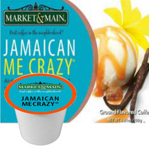 Market & Main Jamaican Me Crazy Coffee Single Cup. An enticing blend of caramel and vanilla with a fun island flair! Compatible with most or all single cup brewers including Keurig® and Keurig®