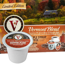 Victor Allen's Coffee Limited Edition Vermont Blend Maple Syrup Coffee Single Cup. Experience the classic flavor of Vermont style maple syrup with a touch of sweet buttery notes. Compatible with most single cup brewers including Keurig and Keurig 2.0.
