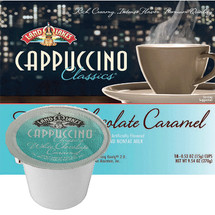 Land O Lakes White Chocolate Caramel Cappuccino Mix Single Cup. The perfect cup of cappuccino is made with nonfat milk and Colombian & Kona coffee blended to make a wonderful frothy cup. Compatible with most single cup brewers including Keurig and Keurig 2.0.