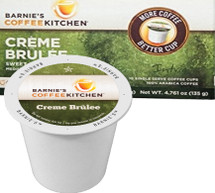 Crème Brulee, combines the flavors of cream and caramel to create a coffee reminiscent of the classic dessert.