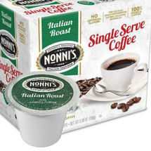 Nonni's Italian Roast Coffee Single Cup. Compatible with most single cup brewers including Keurig and Keurig 2.0.