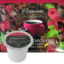 Publix Premium Limited Edition Raspberry Chocolate Coffee Single Cup. It's the little black dress of coffee - great any night of the week, yet fancy enough for special occasions. Rich dark chocolate with a bright raspberry finish. Ypur perfect blend of sophistication and sass. Compatible with all single cup brewers, including Keurig and Keurig 2.0.