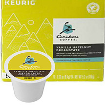 Caribou Vanilla Hazelnut Dreamstate Coffee K-Cup® Pod. the just-right taste of vanilla and hazelnut. Compatible with most single cup brewers including Keurig & Keurig 2.0.