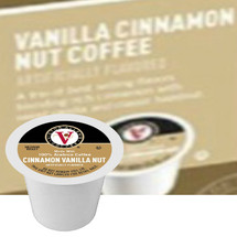Victor Allen's Coffee Cinnamon Vanilla Nut Coffee Single Cup. A trio of best selling flavors blending rich cinnamon with sweet vanilla and classic hazelnut. Compatible with most single cup brewers including Keurig and Keurig 2.0.