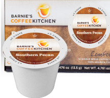 Barnie's Coffee Kitchen Southern Pecan Coffee Single Cup. Southern Pecan coffee delivers the unique sweet, nutty flavor of the famed southern pecan. Compatible with most single cup brewers including Keurig but not Keurig 2.0.
