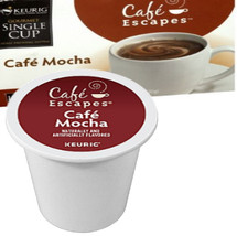 Cafe Escapes Cafe Mocha K-Cup A blissful balance of cocoa and coffee