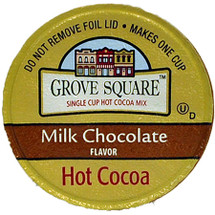 Grove Square Hot Cocoa specialty beverages are made with some of the highest quality ingredients. Grove Square Cocoa, it?s never been more delicious or easier to prepare Our dark and milk chocolate flavored varieties have all the creamy, chocolaty richness that make cocoa a classic favorite The warmth and comfort that each sip offers makes this the perfect treat to enjoy any time of day Go ahead, enjoy a cup and don't forget the marshmallows Grove Square Milk Chocolate Cocoa has the creamy Smoothnessthat makes milk chocolate a classic favorite