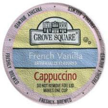 Grove Square Specialty Cappuccino flavored drink mixes, made with some of the highest quality ingredients, with a sugar/sucralose blend, are a decadent combination of each coffee, and flavor combo sure to be refreshing and treat anytime of day Each serving contains 20-30mg caffeine Creamy, steamy and a little dreamy, cappuccino is the coffee treat you can call your own, any time of day, every day With a stimulating aroma and pure taste, Grove Square Cappuccino, made to perfection, provides a potent pick-me-up that highlights the bold vanilla, hazlenut and caramel flavors with coffee in perfect harmony Grove Square makes it more convenient than ever to enjoy this delicious coffee shop treat right in your home of day, every day