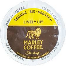 Marley Lively Up Coffee Espresso Single Cup. Lively Up Yourself with this medium dark espresso. Enjoy hints of buttery caramel and sweet cocoa, along with a rich smooth finish. Compatible with all single serve brewers, including Keurig® and Keurig® 2.0.