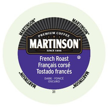 Martinson French Roast Coffee Single Cup. Our French Roast is our deepest, boldest roast and delivers eye-opening flavor. Compatible with all single serve brewers, including Keurig® and Keurig® 2.0.