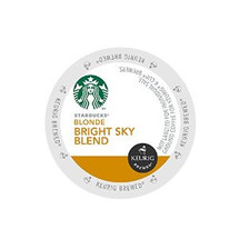 Starbucks Bright Sky Blend Coffee k-cup® pods for the Keurig coffee Brewer The Story of Starbucks® Bright Sky BlendAs mild and welcoming as a gentle sunrise, this blends inviting character is a pleasure to wake up to. Starbucks roasted the Latin American beans