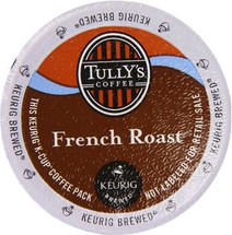 Tully's French Roast Coffee K-Cup® Pod. This coffee is powerful and intense with a smoky, decadent finish. It's the ultimate expression of European coffee.