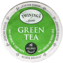Twinings Green Tea K-Cup® Pod. A soothing and refreshing green tea with a delicate flavor and a light golden color.