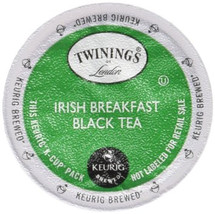 Twinings Irish Breakfast Tea K-Cup® Pod. The Irish really love their tea and are amongst the most frequent drinkers of tea around the world. In celebration of this tea drinking tradition, Twinings blended a special Irish Breakfast Blend. This tea is best taken with milk and sweetened to taste to bring out the best flavor