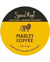 Marley Spiced Root Rum Coffee Single Cup. Inspired by Rohan Marley's carefully aged Jamaican rum, Spiced Root clearly delivers the reggae spirit our beloved homeland is famous for. Featuring 100% Rainforest Alliance Certified™ coffee, the resulting blend inundates the palate delivering a premium coffee experience benefitting even the most knowledgeable connoisseur. Compatible with all single serve brewers, including Keurig® and Keurig® 2.0.