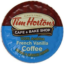 Tim Hortons French Vanilla Coffee Single Cup. With Tim Hortons French Vanilla Coffee, you can enjoy a perfectly balanced, medium-bodied coffee with a smooth finish and a hint of French Vanilla sweetness. Compatible with all single serve brewers, including Keurig® and Keurig® 2.0.