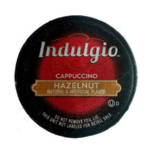 Indulgio Hazelnut Cappuccino Single Cup. You will love how the delicate notes of hazelnut. so sweet, add a sweet accent to a richly satisfying cup of cappuccino. Compatible with all single serve brewers, including Keurig® not Keurig® 2.0.