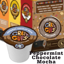 Crazy Cups Peppermint Chocolate Mocha Coffee Single Cup. Peppermint, Chocolate and Mocha. It's more than coffee, It's a party in a Mug. Compatible with most single cup brewers, including Keurig and Keurig 2.0.