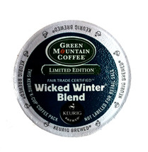 Green Mountain's Wicked Winter Blend brings together the warmth and subtle earthiness of Indonesian coffee with the mellow brightness of Central and South American beans. The result is a toasty, subtly caramelly cup with a chewy, chocolate body and a hint of nutty sweetness in the finish.