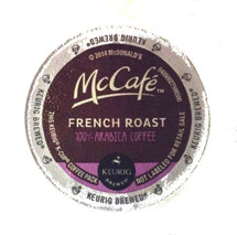 McCafe French Roast Coffee K-Cup® Pod. 100% arabica coffee. French dark roast. Compatible with all single cup brewers.