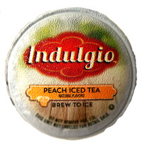 Indulgio Peach Iced Tea Single Cup. Compatible with all single serve brewers, including Keurig® and Keurig® 2.0.